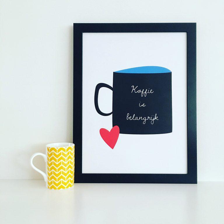 Koffie is belangrijk poster
